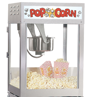 14oz & 16oz Popcorn Machines