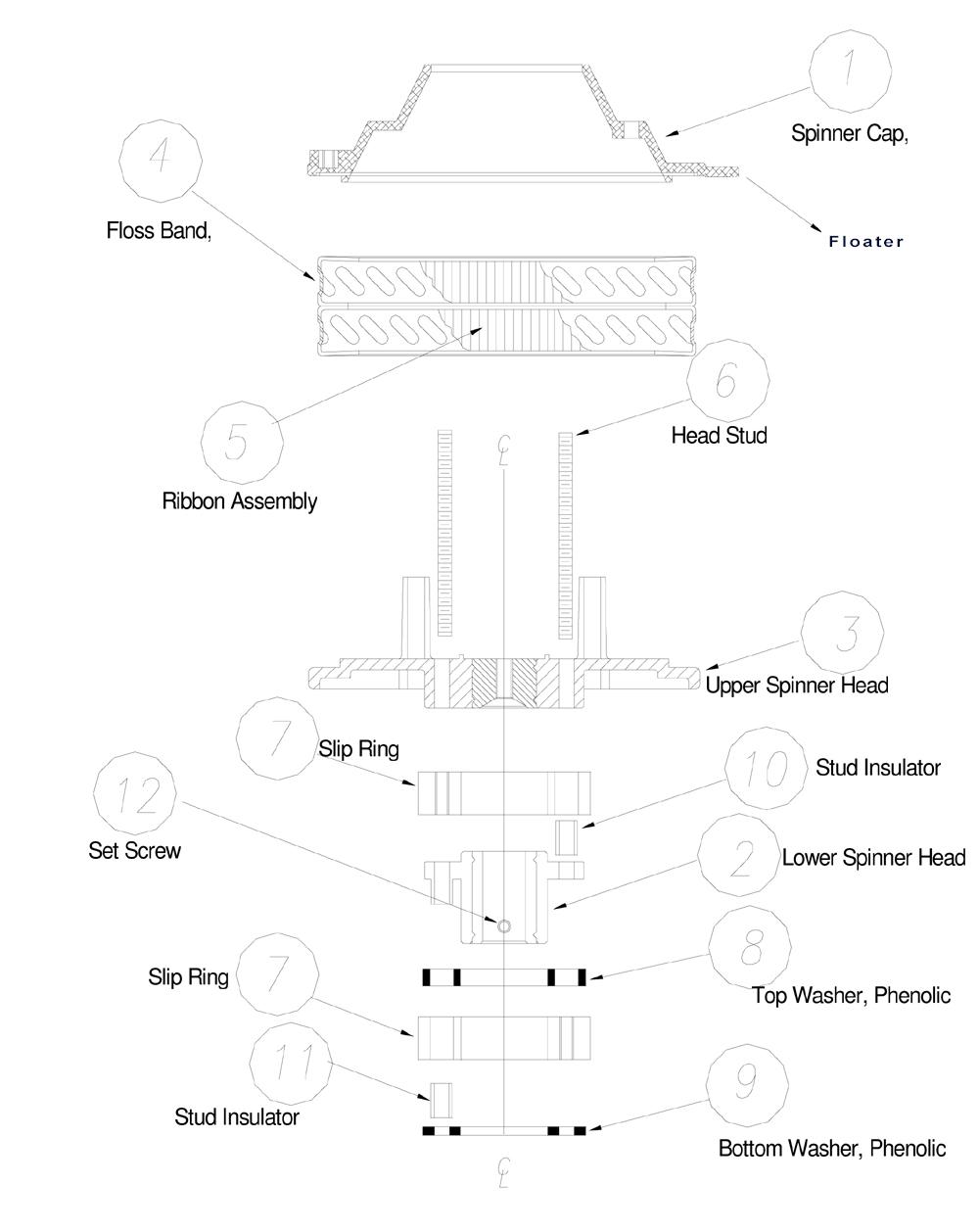 cotton candy machine parts breakdown