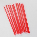 10 INCH RED WRAP STRAW 400/BOX
