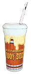Root Beer Cups 300 W/Lid & Straw