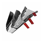 Right Handed Perforated Stainless Steel Jet Scoop
