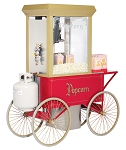 12oz Gas Popcorn Machine w/cart