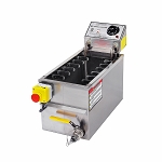 Small Gas Fryer with Drain