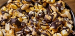 Smooth Caramel Chocolate Peanut Popcorn