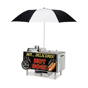 Sterno Table Top Hot Dog Steamer Cart