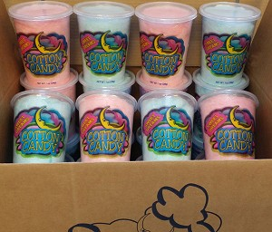 (24/case) SweetDreams Cotton Candy Containers Filled