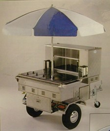 TOWABLE HOT DOG CART