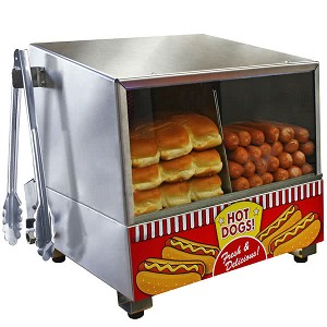 8080 paragon hot dog steamer