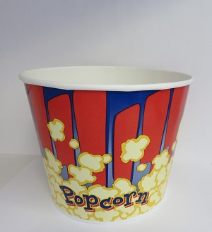 130oz red and blue popcorn cup