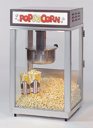 2661 6oz lighted sign popcorn machine