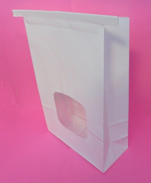 large tin tie bags with window